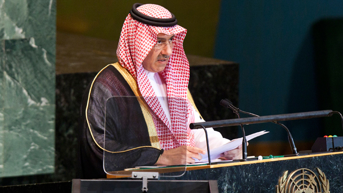 Minister of Foreign Affairs for Saudi Arabia, Prince Saud Al-Faisal at U.N. headquarters in New York (Reuters / Andrew Burton)
