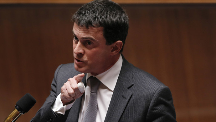French Interior Minister Manuel Valls (Reuters/Gonzalo Fuentes)