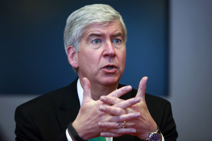 Rick Snyder, the Republican governor of Michigan (Reuters/Shannon Stapleton)