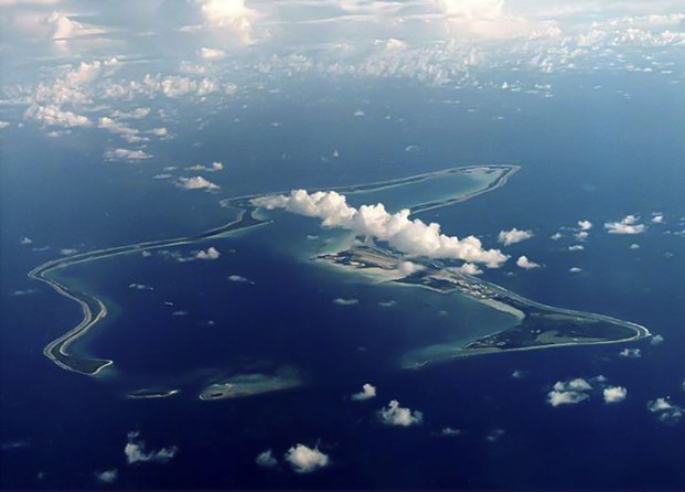 An undated file photo shows Diego Garcia, the largest island in the Chagos archipelago and site of a major United States military base in the middle of the Indian Ocean leased from Britain in 1966. (Reuters / U.S. Navy)