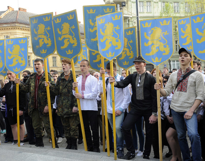 Commemoration of the founding of the SS Galicia Division in Lviv, April 27, 2014