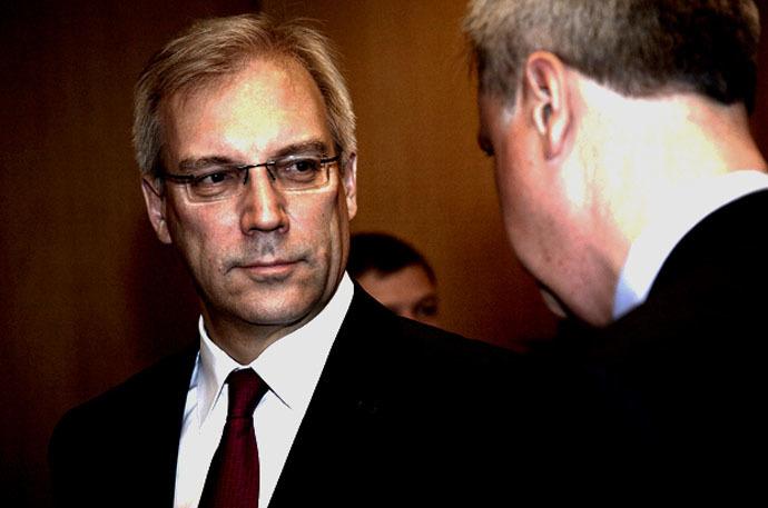 Russia's Ambassador to NATO, Aleksandr Grushko (Photo from www.nato.int)