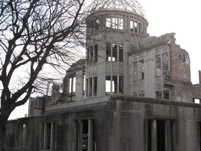 Nuclear Dome, Hiroshima, Japan - legacy of it, is perverted.(Photo by Andre Vltchek)