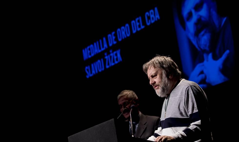 Slavoj Zizek en el Circulo de Bellas Artes de Madrid el 7 de mayo de 2018