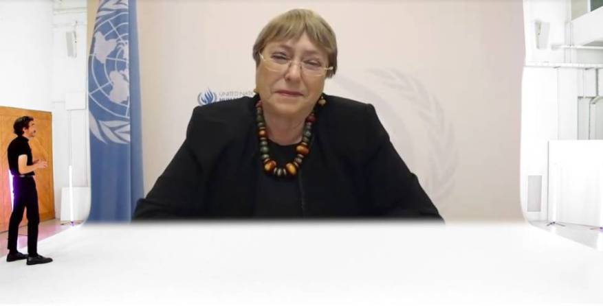 Michelle Bachelet, United Nations High Commissioner for Human Rights and former President of Chile.