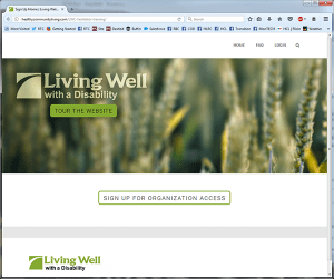 Screenshot of new Living Well with a Disability website
