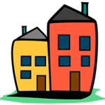 Home Usability Project logo. Two cartoon houses.