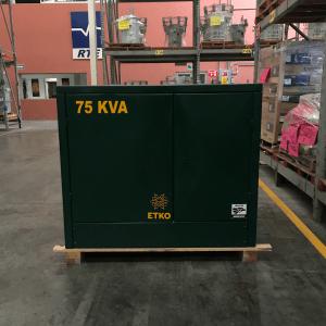Transformador RTE ETKO 75 Kva Pedestal Trifasico 13200 220/127