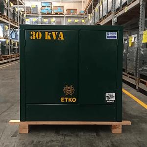 Transformador Pedestal RTE ETKO 30 KVA Trifásico 13200 V 220/127