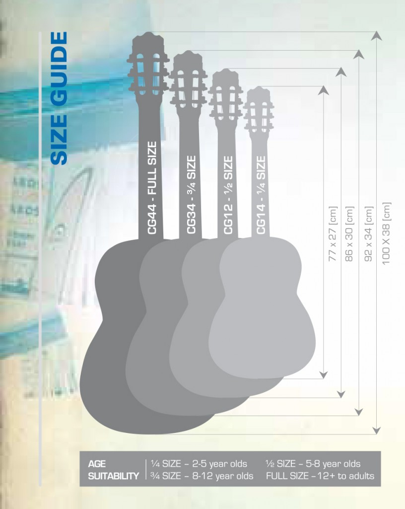 Classical guitar size guide