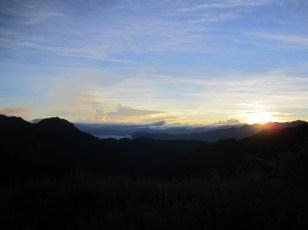 Sonnenaufgang an der 369 Hütte