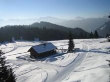 Unsere Hütte auf 1800 m