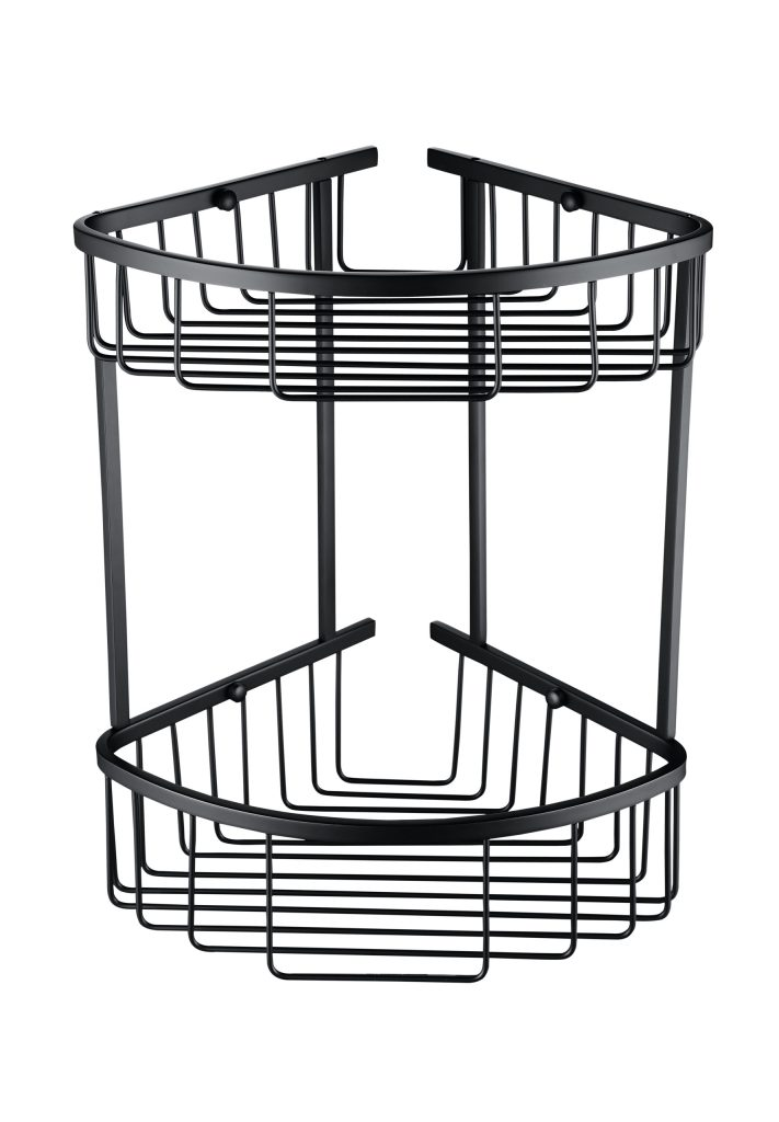 Sorento Black Double Shower Basket