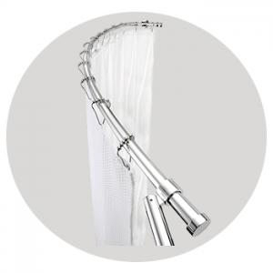 luxury curved shower curtain rod