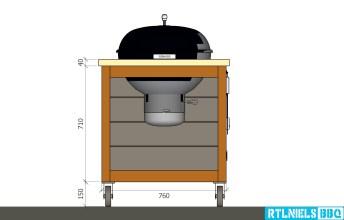 Originele BBQ meubel