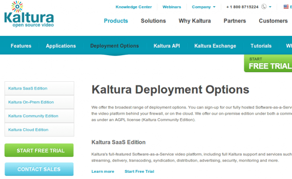 Kaltura Deployment Options