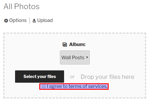 Upload Terms in Media Uploader