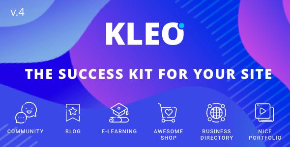 Kleo - The Best Multipurpose WordPress BuddyPress theme for communitites