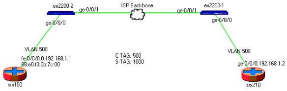 Q-in-Q in EX switch   RtoDto net