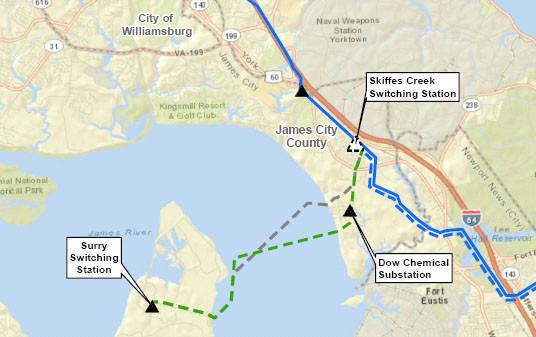 Surry to Skiffes Creek Transmission Line (Source: Dominion)