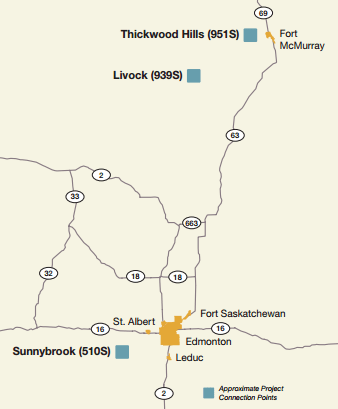 Fort McMurrey West Project Map (Source: AESO)