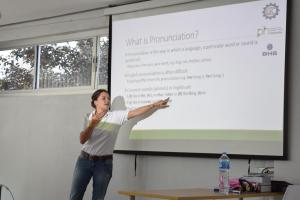 The first pronunciation workshop at the Lao-German Technical College in November 2016