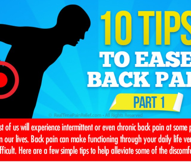 Tips To Ease Back Pain Part