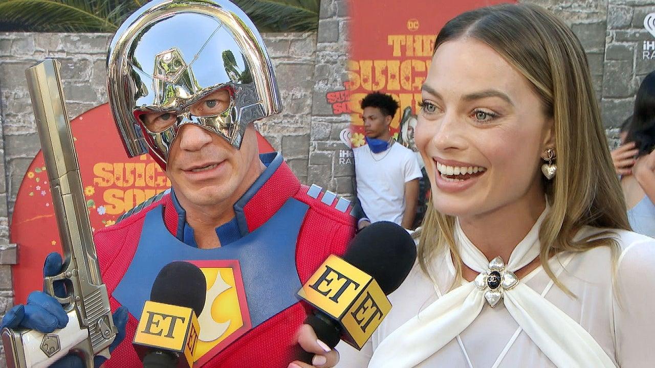 Margot Robbie Reacts to John Cena Dressing Up as ...