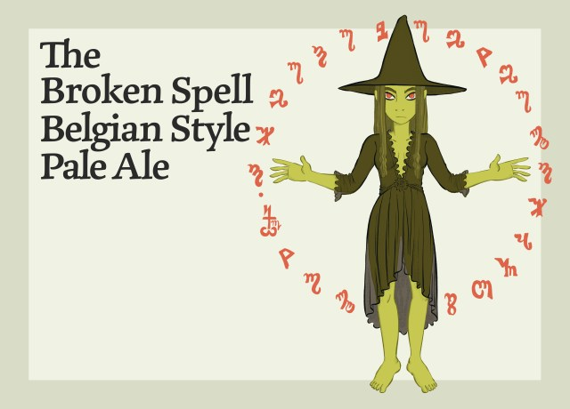 This image shows the Broken Spell Belgian Style Pale Ale.