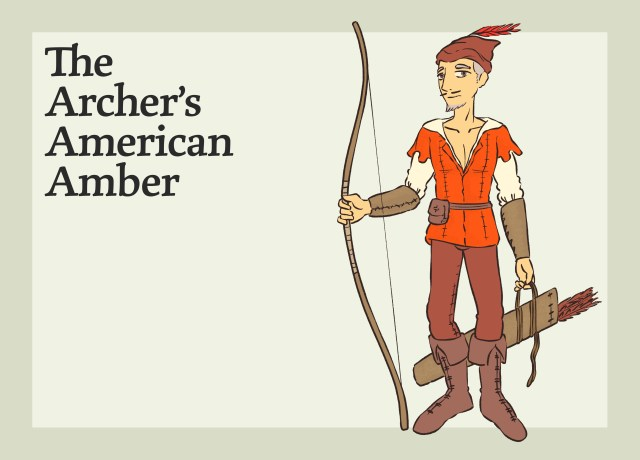This image shows the Archer's American Amber.