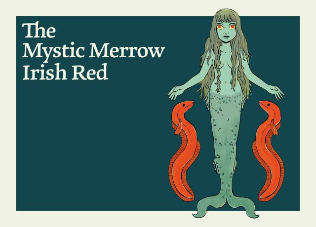 This image shows the Mystic Merrow Irish Red Ale.