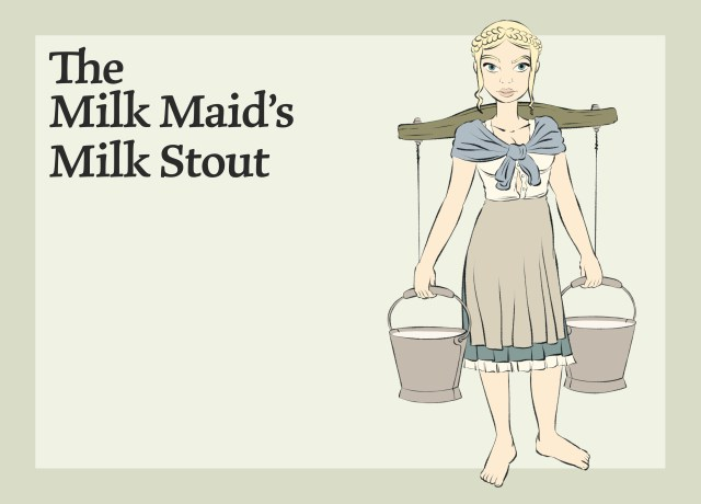 This image shows the Milk Maid's Milk Stout.