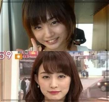 新井恵理那,アナウンサー,セント・フォース,顔変わった,比較画像,目