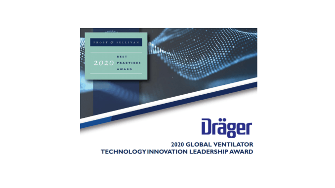 Frost & Sullivan Dräger 2020 Global Technology Innovation Leadership Award