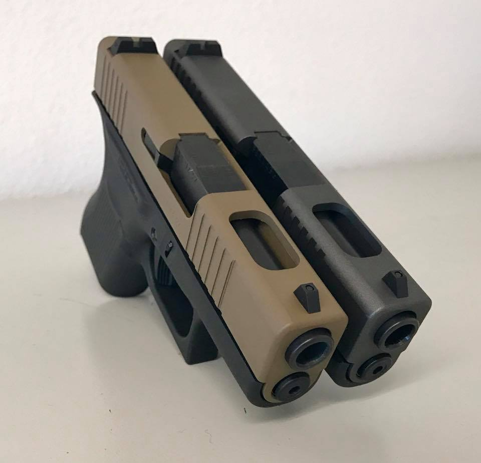 Glock 43 Front Serrations Porting And Cerakote Rtt Firearms