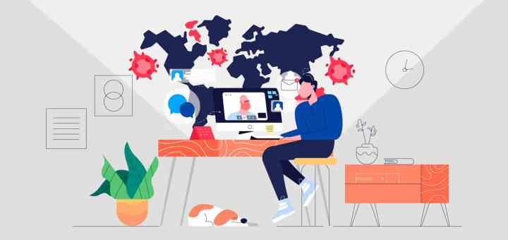 remote work during covid graphic