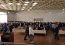 Pristalice Zukorlićeve partije na sednici Skupštine