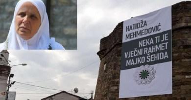 Prva godišnjica od smrti Hatidže Mehmedović