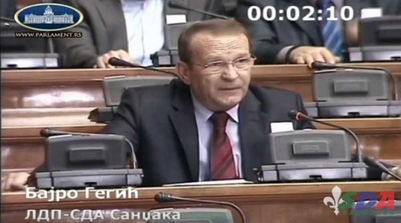 SDA: Odluka o isključenju Gegića