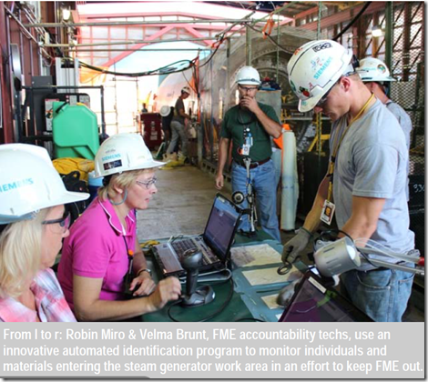 Turkey Point Nuclear Power Plant First in the Industry to Debut Auto-ID Foreign Material Exclusion Tracking Program (2/2)