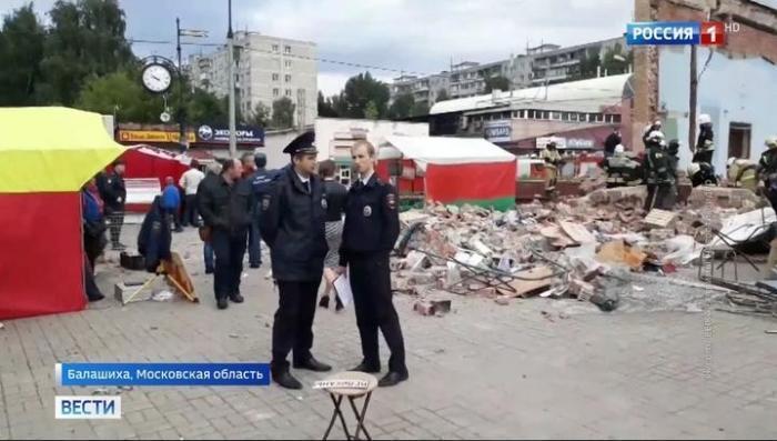 В Балашихе обрушился кинотеатр после незаконной реконструкции здания