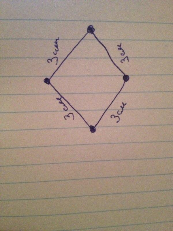 замкнутая ломаная линия состоит из 4 одинаковых звеньев ...
