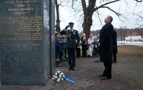 Президент Тоомас Хендрик Ильвес посетил в Стокгольме памятник «Ворота свободы»