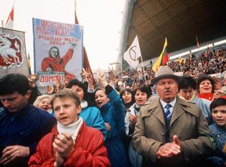 Антикремлевская демонстрация в Вильнюсе, 1991