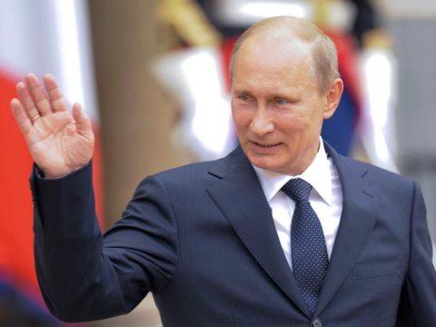 """Владимир Путин на съезде правящей партии """"Единая Россия"""""""