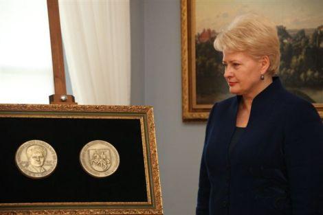 Даля Грибаускайте награждена медалью Цереры