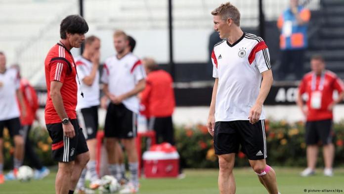 Тренировка сборной Германии перед финальным матчем в Бразилии