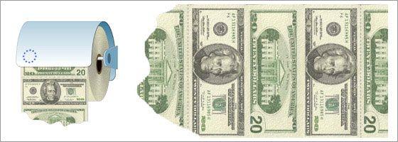 Доллар - грязная вонючая бумажка :-)