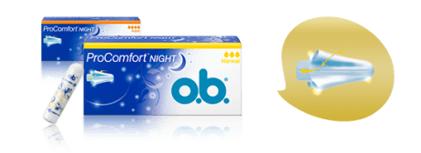 O.b tampons. <Sup> ® </ sup> procomfort ™ bevonattal ellátott silktouch ™