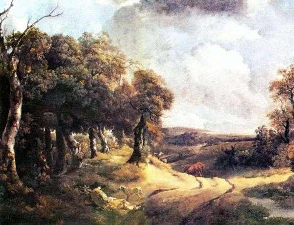 Описание картины «Дорога через лес и мальчик с собакой ...